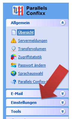 Confixx Hauptnavigation