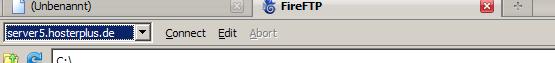 Tab Menü von FireFtp